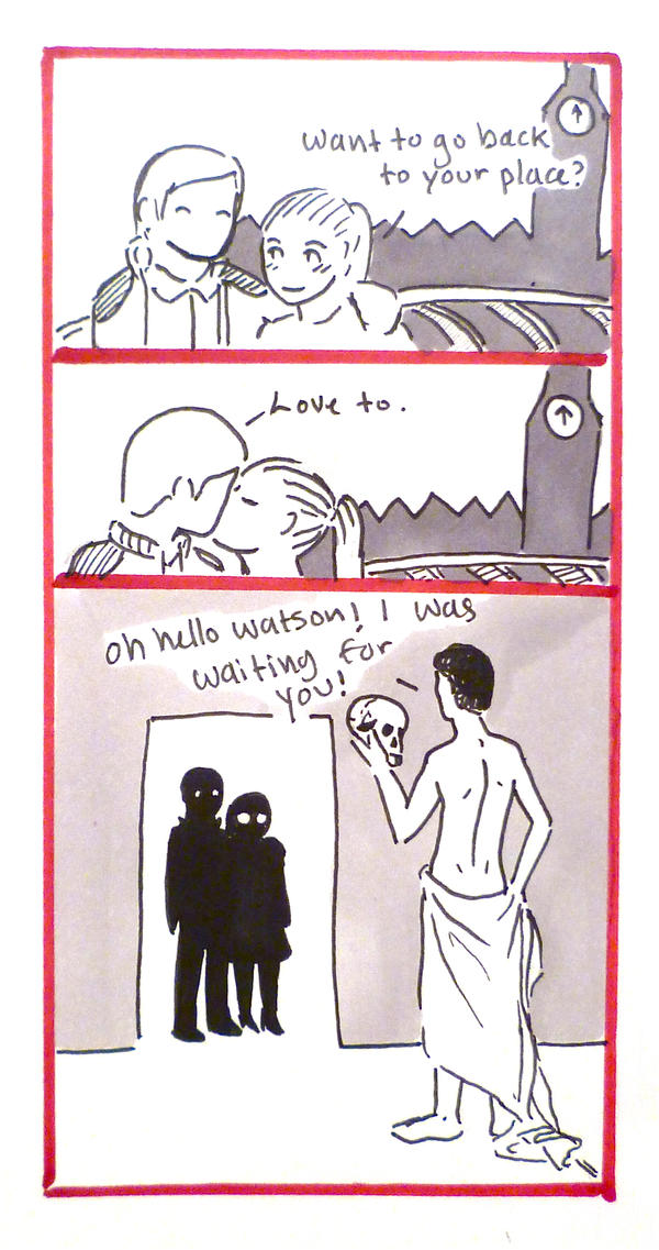 BBC Sherlock comic: Welcome home. by Graphitekind