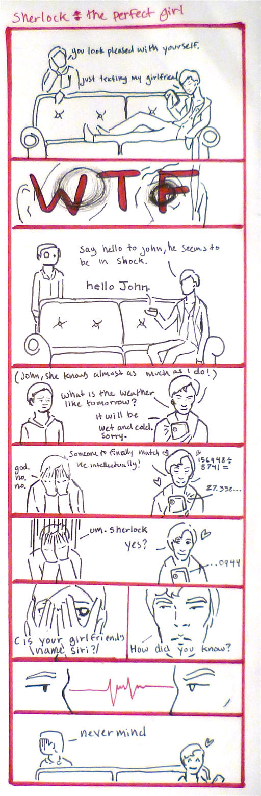 BBC Sherlock comic: the perfect girl by Graphitekind
