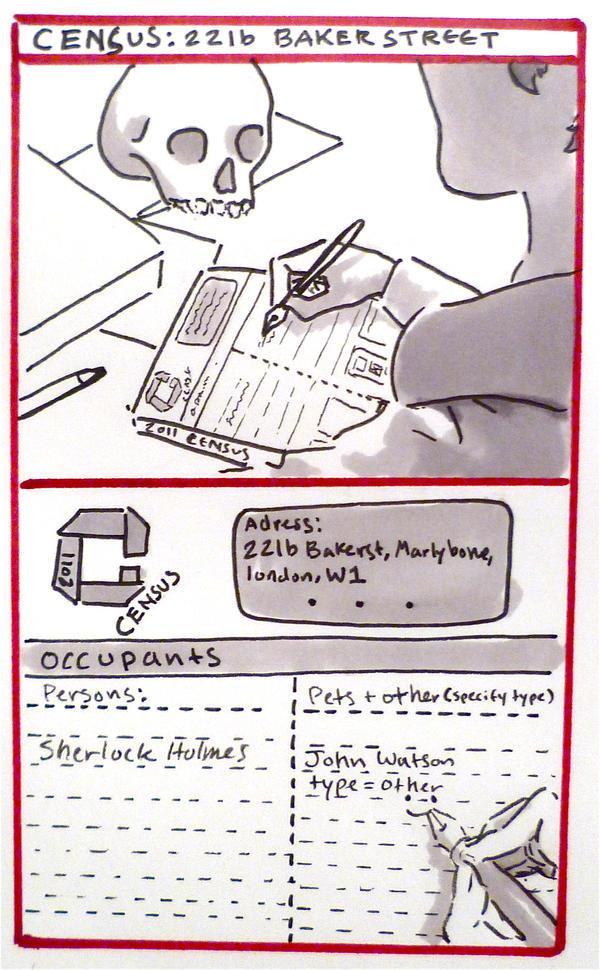 BBC Sherlock comic: Sherlock's Census by Graphitekind