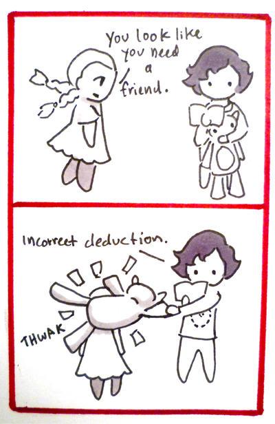 BBC Sherlock comic: bad at playgrounds by Graphitekind