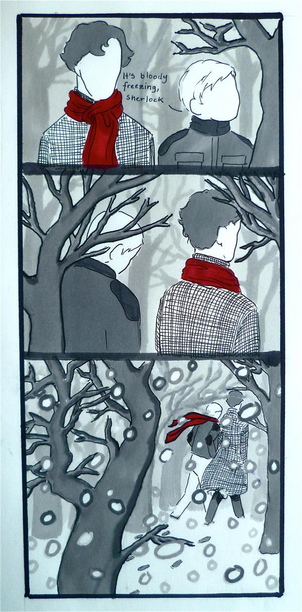 BBC Sherlock comic: Cold by Graphitekind