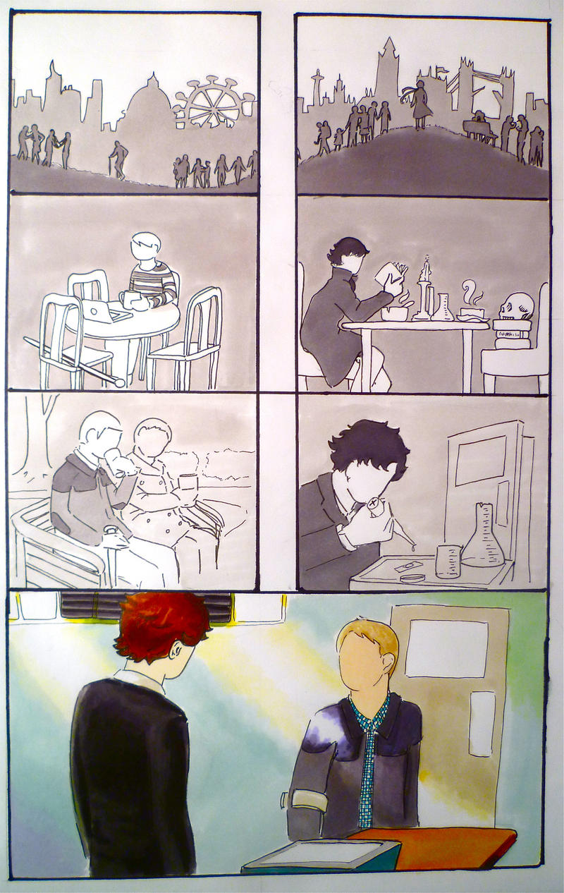 BBC Sherlock comic: Lives by Graphitekind