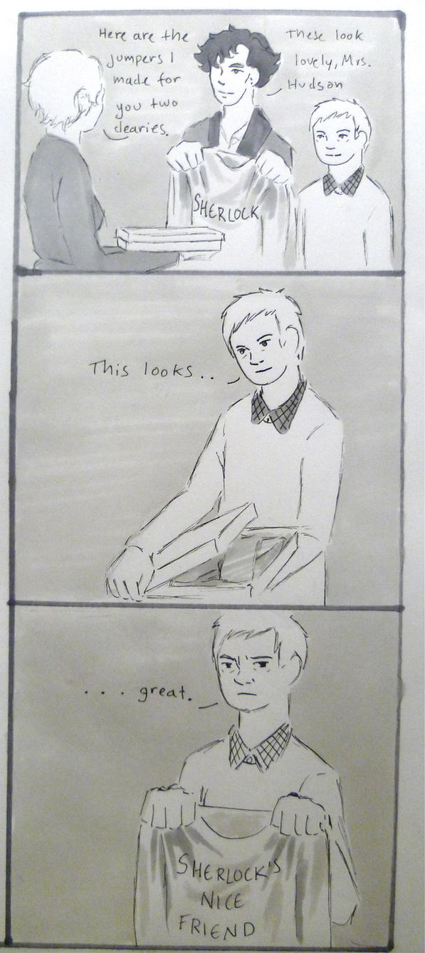 BBC Sherlock comic: Jumpers by Graphitekind