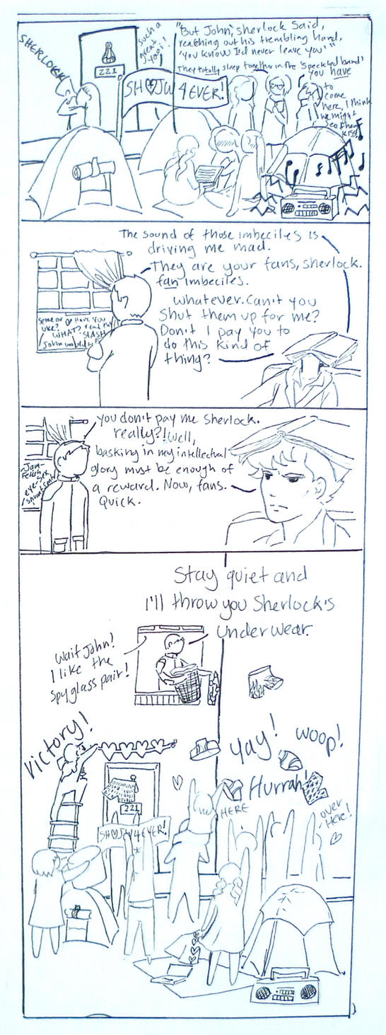 BBC Sherlock comic: Bribery by Graphitekind