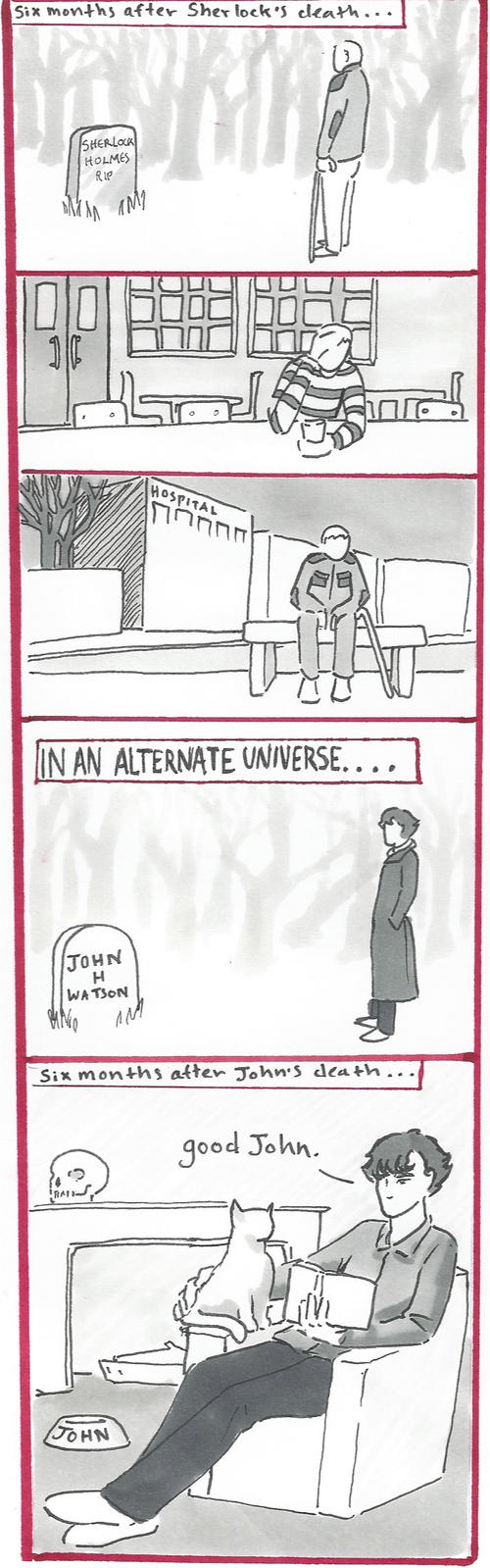BBC Sherlock comic: Grieving by Graphitekind