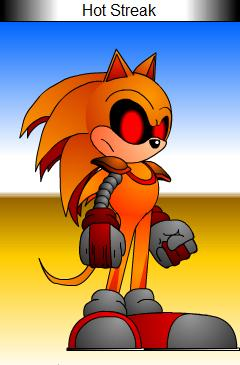 Hot Streak the Hedgehog by Bobo1806able