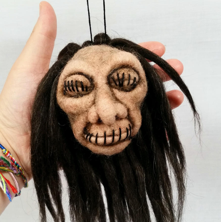 Needle Felted Shrunken Head by HeartfeltCreations