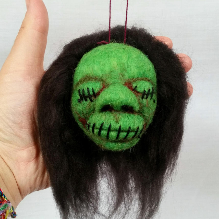 Green Shrunken Head by HeartfeltCreations