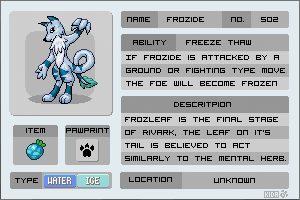 Fakemon - Frozide by Kida-Ookami