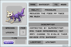 Fakemon - Shindeon by Kida-Ookami