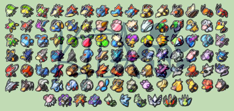 Pokemon Badges - Johto by Kida-Ookami