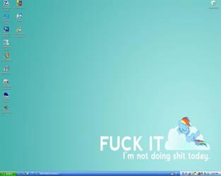 Desktop - Rainbow Dash by Kida-Ookami