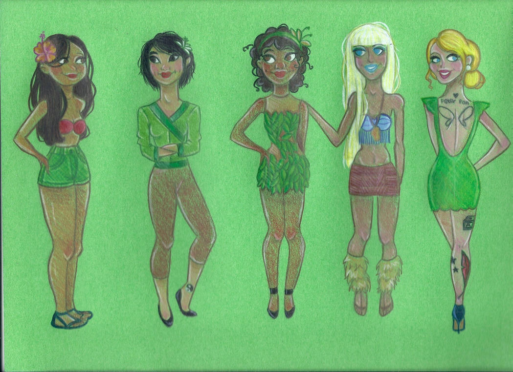 Modern disney princesses 3 by joshbeames on deviantart