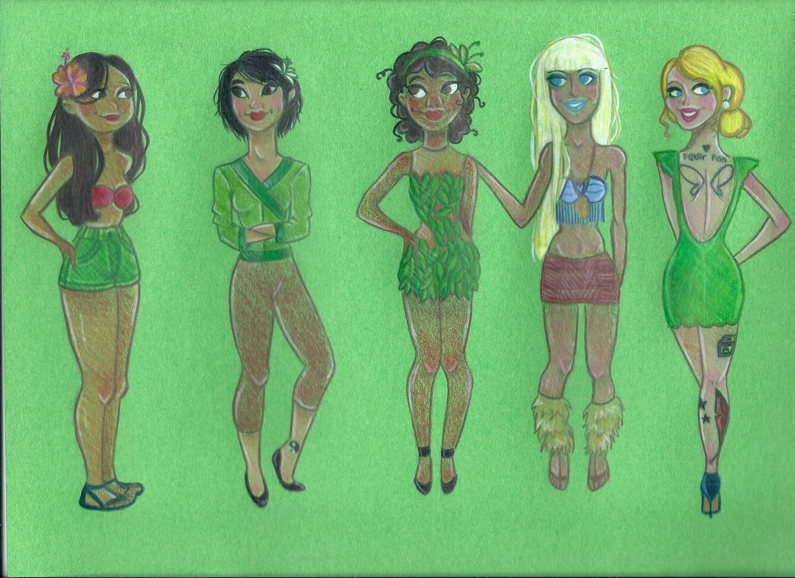 Modern disney princesses 3 by joshbeames on deviantart