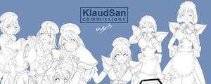 Commission - Rom and Ram X kurumi