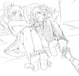 Ruby and Weiss Schnee.. by KlaudSan