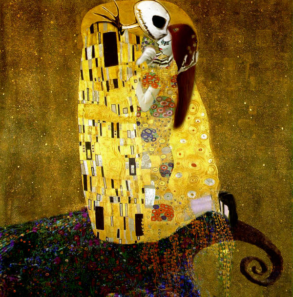 Skellington meets Klimt by opheliact