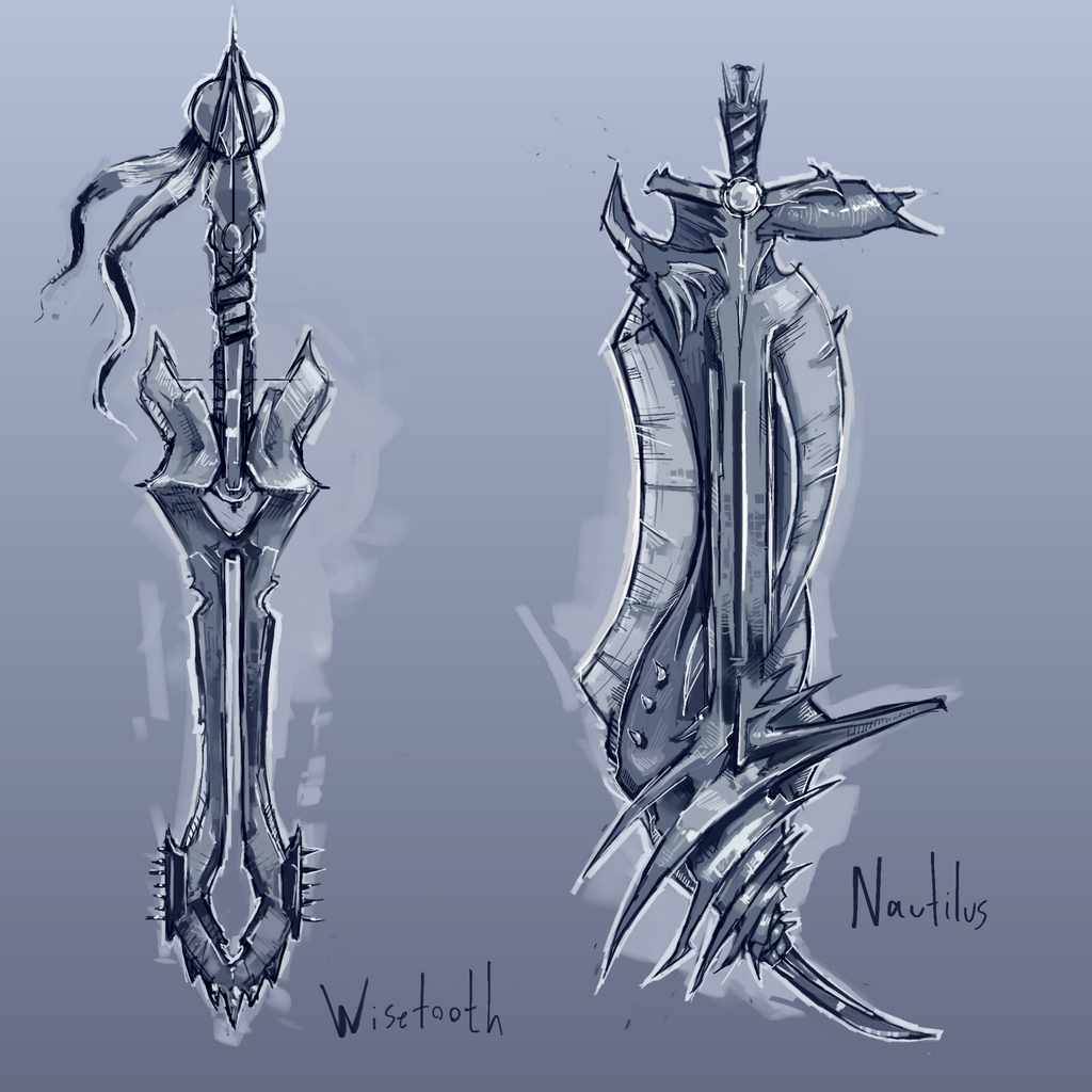 Swords: Wisetooth and Nautilus by kvernikovskiy