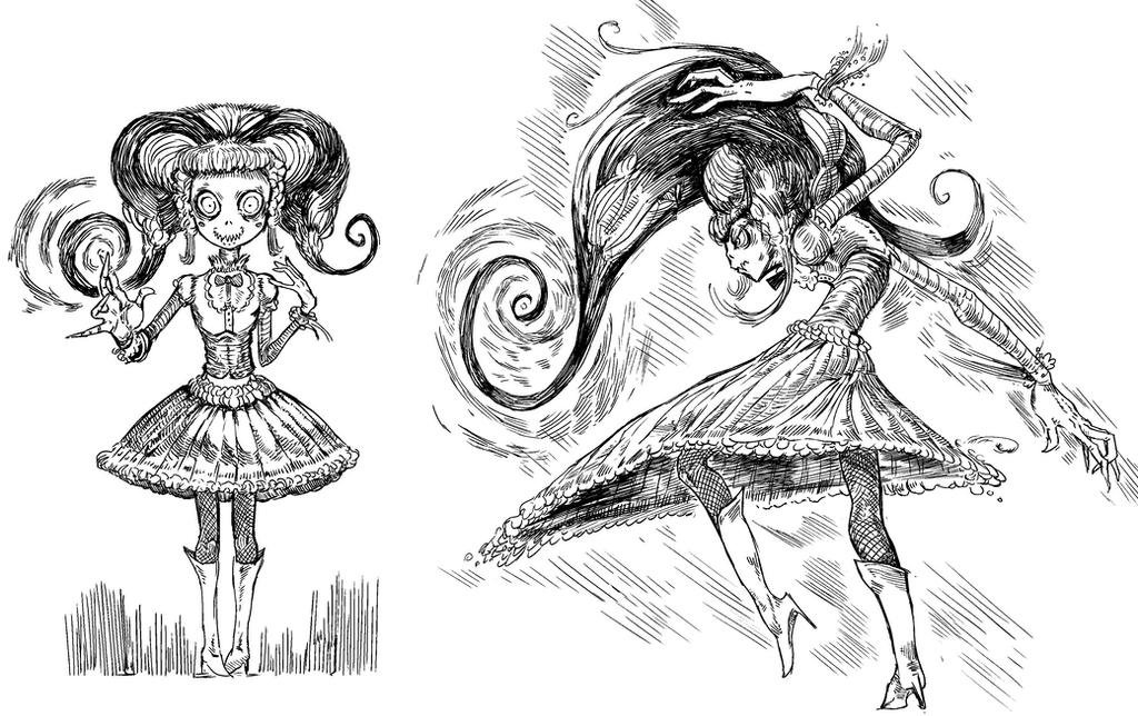 Skull And Hair And A Dress by kvernikovskiy