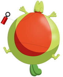 Treecko inflated by Darlaltonthebearcat