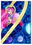 Galaxy Mermaid Watercolor - Mermay #1