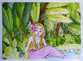 Plants Mermaid Watercolor - Mermay #4 by Saphir-And-Rose