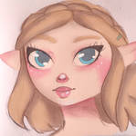 Zelda - Breath of the Wild 2 Portrait by Saphir-And-Rose