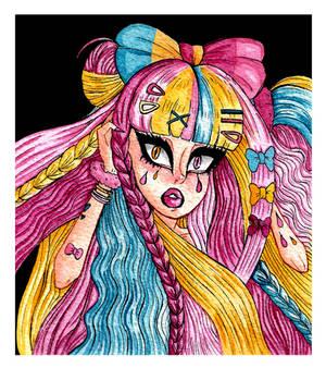 Inktober #4 - Lots of Hair by Saphir-And-Rose