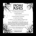 From The Ashes -back cd cover
