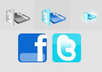 Facebook/Twitter by CreativeEffects