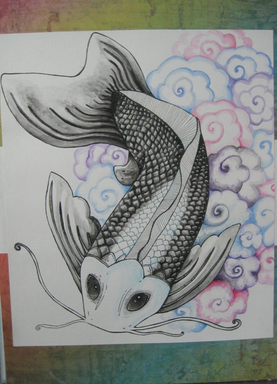 Tattoo design tattoo ideas by clyde byrne for Kumonryu koi fish