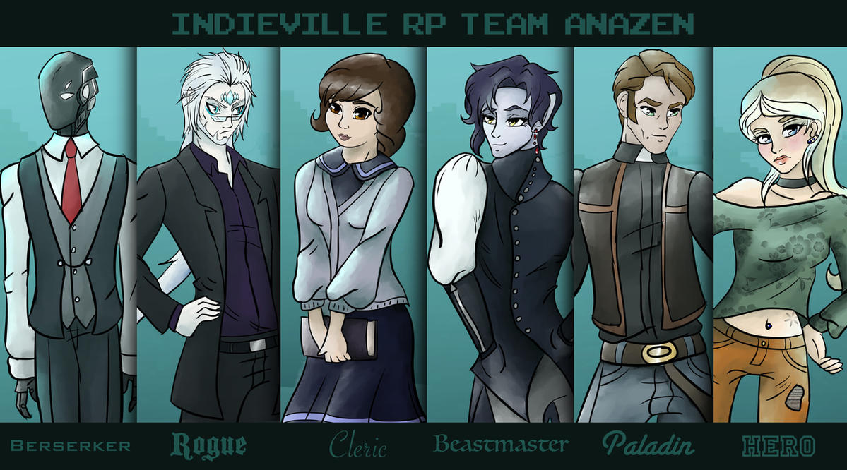 Indieville RP Group Poster: Team Anazen by Anazen