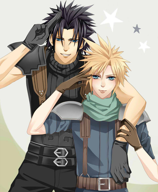 Zack and Cloud by gyokuto
