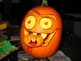 Canibal Pumpkin by c-t-supahfly