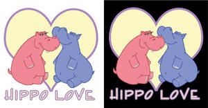 Hippo Love Tshirt Design
