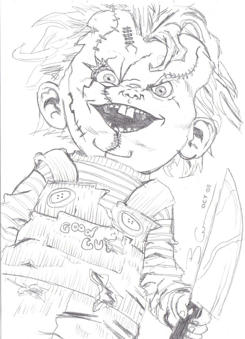 The Gallery For Gt Killer Chucky Coloring Pages