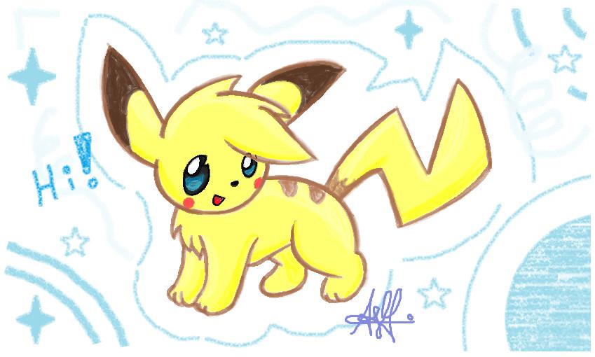 cute pikachu by yoshi3197