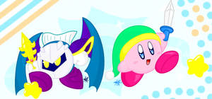 Kirby and Meta Knight by yoshi3197