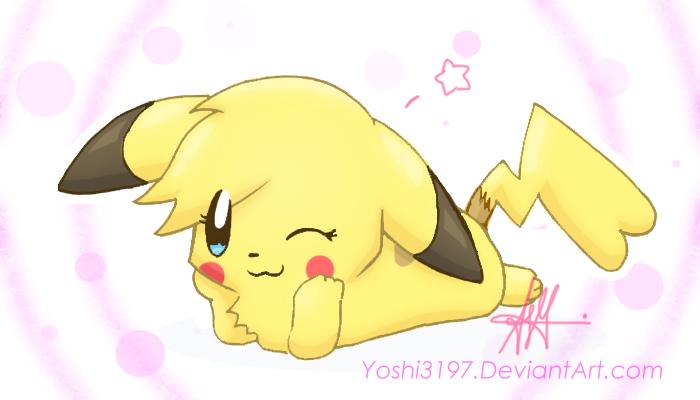 Kawaii pikachu by yoshi3197 on deviantart - Pikachu kawaii ...