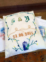 Wedding pillow by MeeYungCreations
