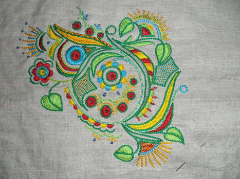 Traditional Embroidery from Brettany
