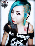 Turquoise and leopard print hair*_* by NatyMetal-AltModel