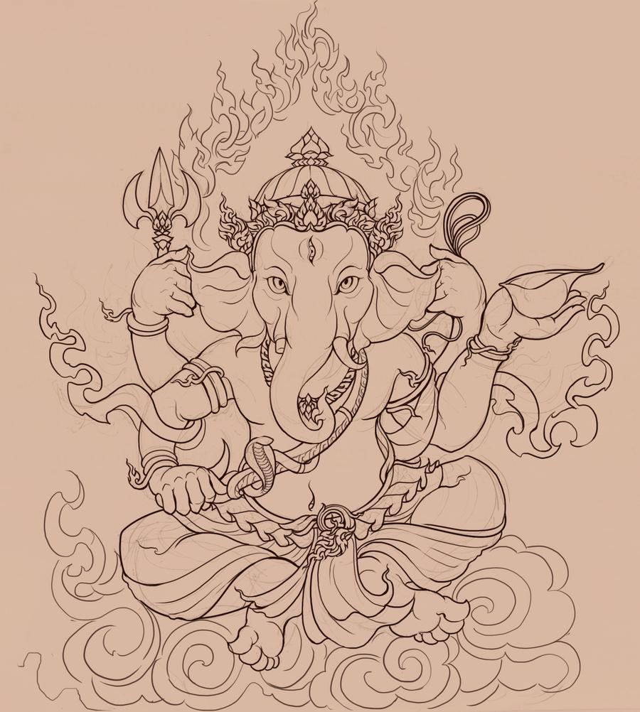 Line Art Ganesha : Ganesh images for drawing joy studio design gallery