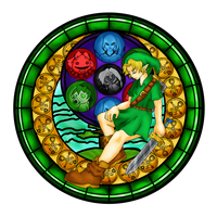 Majora's Mask Window by TigerLadyofDarkness