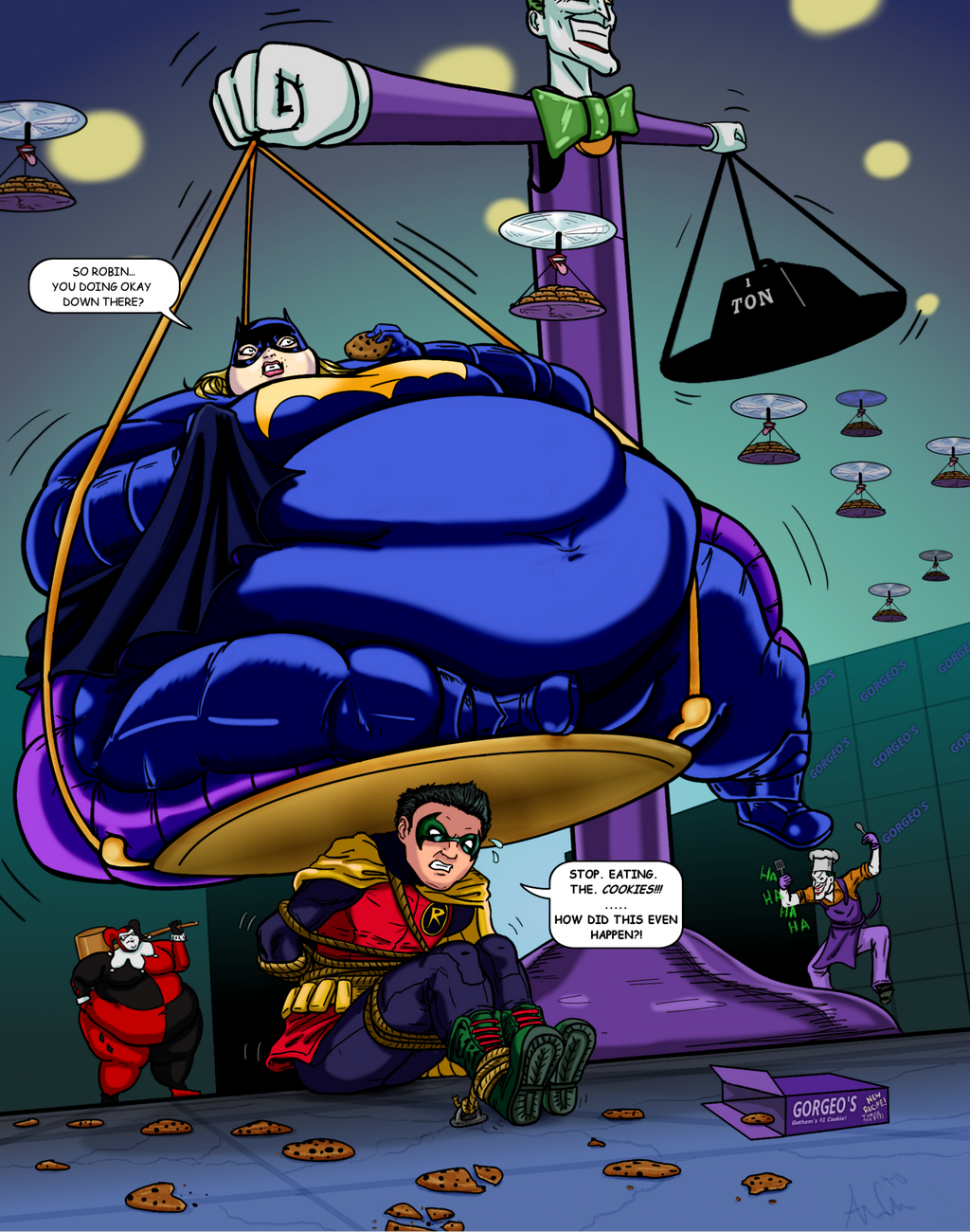 Commission: Batgirl and Robin - Part 3 of 3 by Ray-Norr