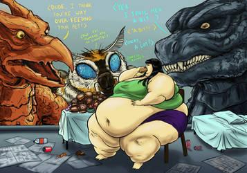Godzilla's Overfed Pet by Ray-Norr