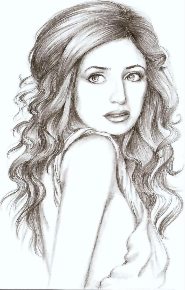 Girl face sketch drawing gdlawct com
