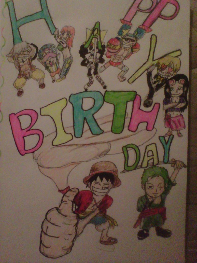 Birthday Calendar One Piece : One piece birthday card by choasisshinigami on deviantart
