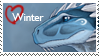 Winter Stamp by WinterBlueArt