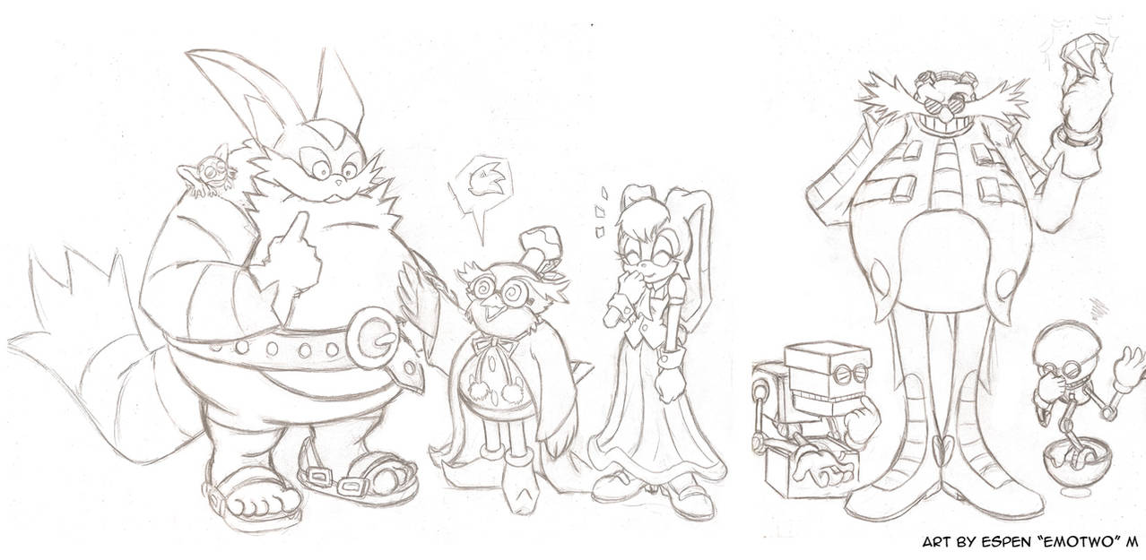 Sonic characters 2nd line-up draft by emotwo on DeviantArt